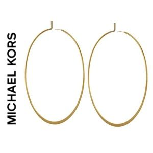 Michael Kors Yellow Goldtone Whisper Hoop Earrings